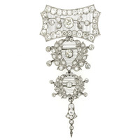 Child and Child Rare and Magnificent Diamond Platinum Pendant Brooch
