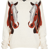 Knitted Horse Mirror Jumper - Jumpers - Knitwear - Clothing - Topshop