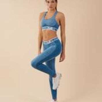 Gymshark Flex Leggings - Deep Teal/Ice Blue