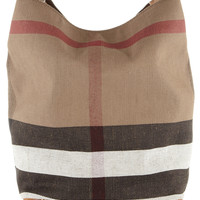 Burberry Shoes & Accessories - Checked canvas hobo bag