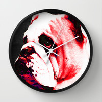 Southern Dawg By Sharon Cummings Wall Clock by Sharon Cummings