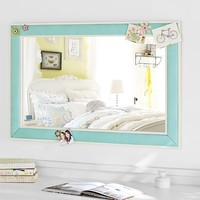 Pop Color Pinboard Mirror, Pool
