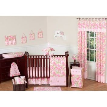 Sweet Jojo Designs Camo 11-Piece Crib Bedding Set in Pink/Khaki
