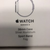 Apple Watch Series 3 38mm Silver Aluminium Case with Fog Sport Band (GPS) -...