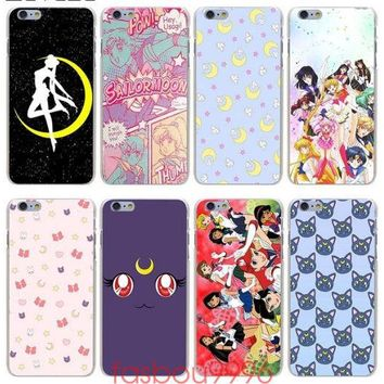 Sailor Moon Hard Phone Cover Case for iphone 5 6 7 8 X