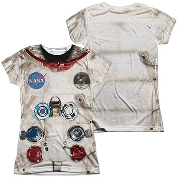Astronaut Spacesuit Costume Juniors T-shirt Front & Back
