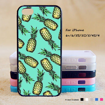 Green Pineapple Phone Case For iPhone 6 Plus For iPhone 6 For iPhone 5/5S For iPhone 4/4S For iPhone 5C iPhone X 8 8 Plus