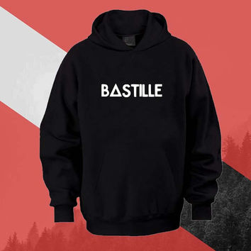 bastille Hoodie Sweatshirt Sweater Shirt black white and beauty variant color Unisex size