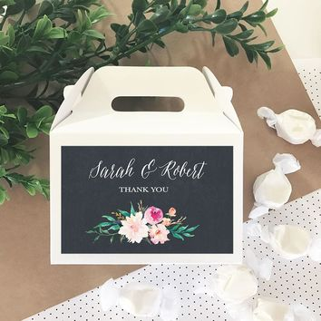 Personalized Floral Garden Mini Gable Boxes