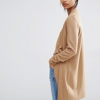 Y.A.S Evita Long Wool Cardigan at asos.com