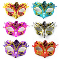 Fashion eye mask gold shining plated party mask wedding props masquerade mardi gras mask individual package 1pcs 1opp