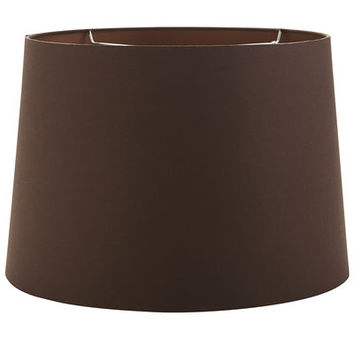 Medium Brown Cotton Lamp Shade