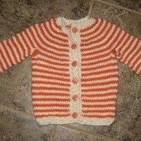 childs sweater 18 to 24 month old handknit by KnitsYoursKnotMine