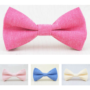 Boys Pastel Cotton Bowties