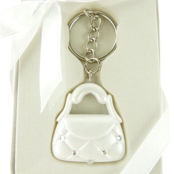 Wedding Bridal Baby Shower Party Favor Key Chain - Beauty Bag Purse