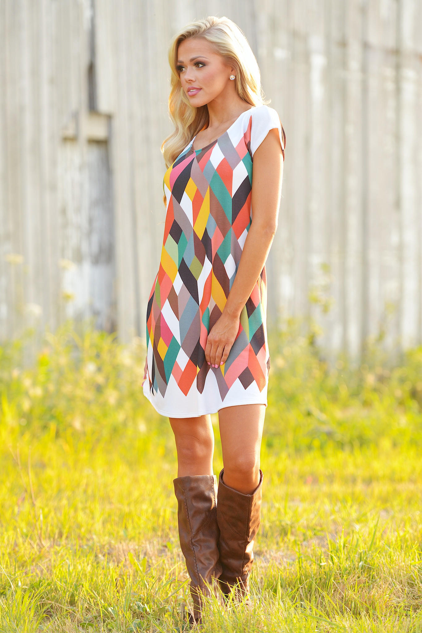 Turning over a new leaf geometric dress images