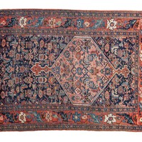3x4.5 Antique Persian Bijar Rug