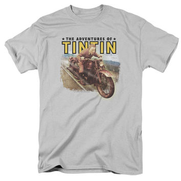 The Adventures of Tintin Open Road Silver T-Shirt