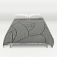 New Weave in Black Duvet Cover by House of Jennifer