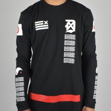 Dope Chef Redemption Long Sleeve T-Shirt DXT013 - Black