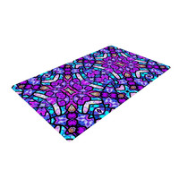 "Art Love Passion ""Kaleidoscope Dream Continued"" Purple Pink Woven Area Rug"