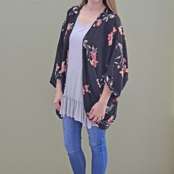 Way you Walk Floral Print Kimono