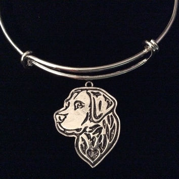 Labrador Retriever Dog Silver Expandable Charm Bracelet Adjustable Bangle Meaningful Dog Lover Gift Bull Dog