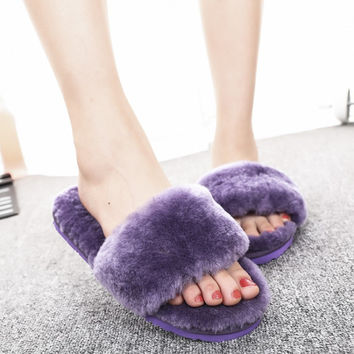 Stylish Fashion Leather Slippers [6047411265]