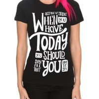 Sleeping With Sirens Today Girls T-Shirt