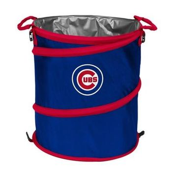 Chicago Cubs Collapsible 3-in-1 Cooler, Garbage Can, Hamper By Logo Brands