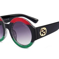 GUCCI Popular Women Men Elegant Summer Colorful Frame Sun Shades Eyeglasses Glasses Sunglasses I-8090-YJ