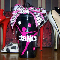 Dance Tumbler with Lid and Straw by MindyMeyer on Etsy