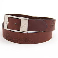 Atlanta Braves MLB Brandish Leather Belt Size 42