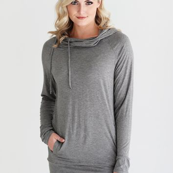 Dark Heather Gray DLMN Twisted Hoodie