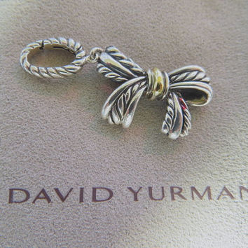 Vintage David Yurman Charm Enhancer Bow 18K Sterling