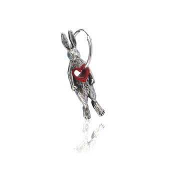 Stolen Heart Rabbit Hoop Earring