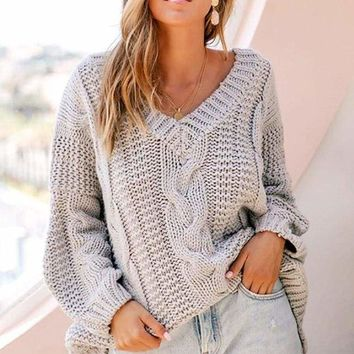 Back Bay Knit Sweater