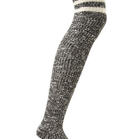 FOREVER 21 Marled Over-The-Knee Socks