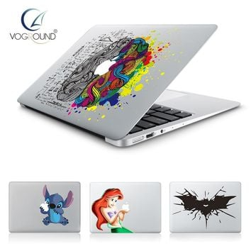 Batman Dark Knight gift Christmas Hot Stitch Batman Snow White Brain Vinyl Decal laptop Sticker for Apple Macbook Pro Air 13 11 15 Cartoon Skin Cover for Mac book AT_71_6