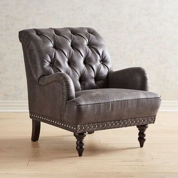 Chas Steel Gray Armchair