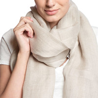 Love Quotes NYC Tassel Scarf in Bisque