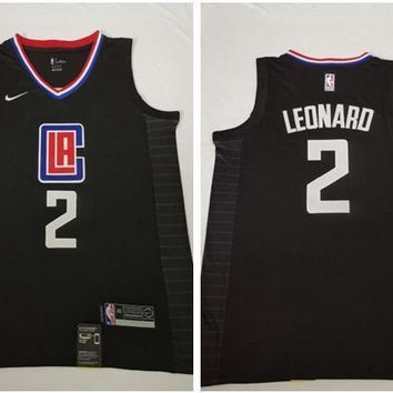 Nike Los Angeles Clippers #2 Kawhi Leonard Basketball Jersey Black