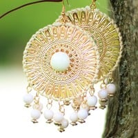 Dreamcatcher Delight Earrings in White