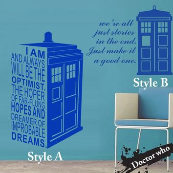 Doctor Who Tardis Wall Vinyl sticker