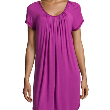 Essential Luxuries Stretch Knit Short Gown, Size: