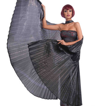 Deluxe Theatrical Costume Wings Black