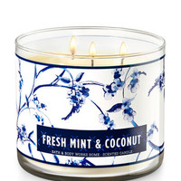 Fresh Mint & Coconut 3-Wick Candle | Bath And Body Works