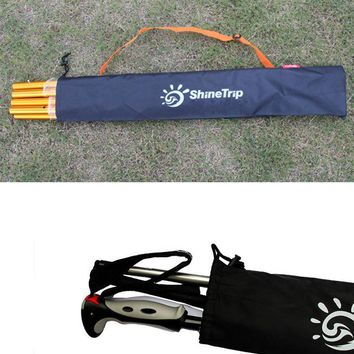 ShineTrip Outdoor Multi-purpose walking stick curtain rod tent pegs storage bag cover travel bag tent accessory