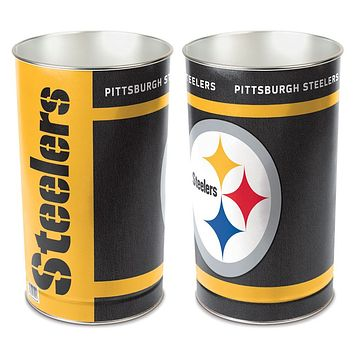 Pittsburgh Steelers Wastebasket 15 Inch