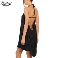 Dress Women Summer Dress Plus Size Casual Women Clothing Sexy Open Back Black Women Dresses